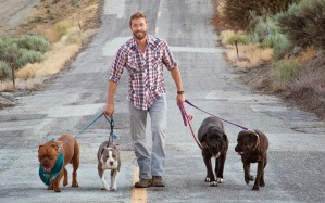 Zack Skow and his dogs